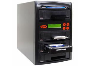 "Systor 1 to 3 SATA 2.5""&3.5"" Dual Port/Hot Swap Hard Disk Drive (HDD/SSD) Duplicator/Sanitizer"