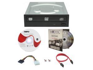 LITE-ON iHAS124-04 24X M-Disc CD DVD Internal Burner Writer Drive + FREE 1pk Mdisc DVD + Nero Software Disc + Cables & Mounting Screws