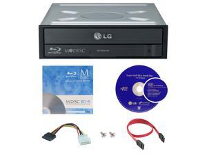LG WH16NS40 16X M-Disc Blu-ray BDXL CD DVD Internal Burner Writer Drive + FREE 1pk Mdisc BD + Cyberlink Software Disc + Cables & Mounting Screws
