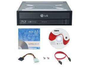 LG WH16NS40 16X M-Disc Blu-ray BDXL CD DVD Internal Burner Writer Drive + FREE 1pk Mdisc BD + Nero Software Disc + Cables & Mounting Screws