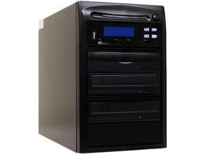 Systor 1 to 2 CD DVD Duplicator + USB / SD / CF Flash Memory Card Drive to DVD Backup Copier Tower