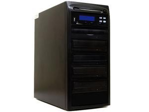 Systor 1 to 4 CD DVD Duplicator + USB / SD / CF Flash Memory Card Drive to DVD Backup Copier Tower