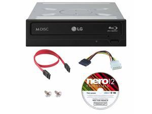 LG UH12NS40 12X M-Disc Blu-ray Reader ONLY / CD DVD Internal burner Writer Drive + Nero Software Disc + Cables & Mounting Screws