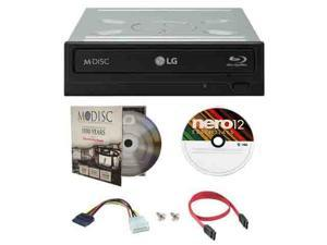 LG UH12NS40 12X M-Disc Blu-ray Reader ONLY / CD DVD Internal burner Writer Drive + FREE 1pk Mdisc DVD + Nero Software Disc + Cables & Mounting Screws