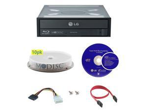 LG WH14NS40 14X M-Disc Blu-ray BDXL CD DVD Internal Burner Writer Drive + FREE 10pk Mdisc DVD + Cyberlink Software Disc + Cables & Mounting Screws
