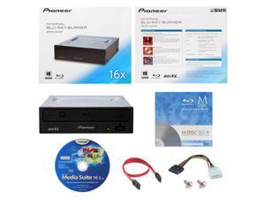 Pioneer BDR-2209 16X M-Disc Blu-ray BDXL CD DVD Internal Burner Writer Drive + FREE 1pk Mdisc BD + CyberLink Software Disc +  Cables & Mounting Screws