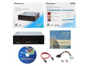 Pioneer BDR-2209 16X M-Disc Blu-ray BDXL CD DVD Internal Burner Writer Drive + FREE 3pk Mdisc BD + CyberLink Software Disc +  Cables & Mounting Screws