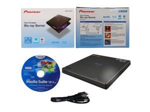 Pioneer BDR-XD05 6X M-Disc BDXL CD DVD Slim Portable External Burner Writer Drive + CyberLink Software Disc + USB Cable