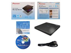 Pioneer BDR-XD05 6X M-Disc BDXL CD DVD Slim Portable External Burner Writer Drive + FREE 1pk Mdisc BD + CyberLink Software Disc + USB Cable