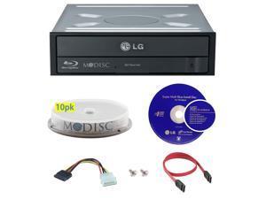 LG WH16NS40 16X M-Disc Blu-ray BDXL CD DVD Internal Burner Writer Drive + FREE 10pk Mdisc DVD + Cyberlink Software Disc + Cables & Mounting Screws