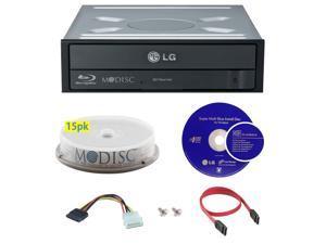 LG WH16NS40 16X M-Disc Blu-ray BDXL CD DVD Internal Burner Writer Drive + FREE 15pk Mdisc DVD + Cyberlink Software Disc + Cables & Mounting Screws