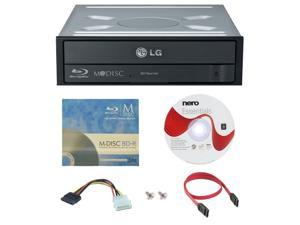 LG WH16NS40 16X M-Disc Blu-ray BDXL CD DVD Internal Burner Writer Drive + FREE 3pk Mdisc BD + Nero Software Disc + Cables & Mounting Screws