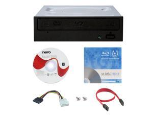 Pioneer BDR-209DBK 16X M-Disc Blu-ray CD DVD Internal Burner Writer Drive + FREE 1pk Mdisc BD + Nero Software Disc + Cables & Mounting Screws