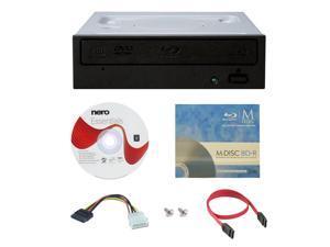 Pioneer BDR-209DBK 16X M-Disc Blu-ray CD DVD Internal Burner Writer Drive + FREE 3pk Mdisc BD + Nero Software Disc + Cables & Mounting Screws