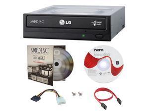 LG GH24NSC0 24X M-Disc CD DVD Internal Burner Writer Drive + FREE 1pk Mdisc DVD + Nero Software Disc + Cables & Mounting Screws