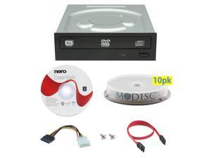 LITE-ON iHAS124-04 24X M-Disc CD DVD Internal Burner Writer Drive + FREE 10pk Mdisc DVD + Nero Software Disc + Cables & Mounting Screws