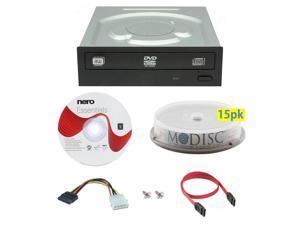 LITE-ON iHAS124-04 24X M-Disc CD DVD Internal Burner Writer Drive + FREE 15pk Mdisc DVD + Nero Software Disc + Cables & Mounting Screws