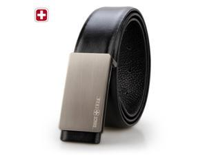 SWISSGEAR smooth leather belt,men's belt,Plate buckling,leather,fashion casual, BA4031
