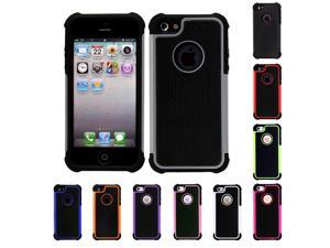 Dual Layer Rugged Hybrid Armor Combo Case Cover For Apple iPhone 5 5S