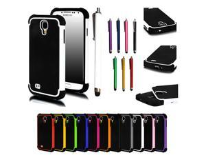 New Dual Layer Hard Case+Stylus Pen For Samsung Galaxy S4 S IV i9500 SCH-I545