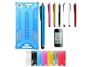 New Transformers Metal Frame Bumper Case With Screen protector & Stylus Pen for iPhone 5 5S 5G