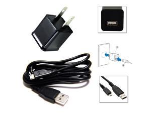 New AC Home Wall Charger & Micro USB Cable for Samsung Galaxy S3 S4 HTC