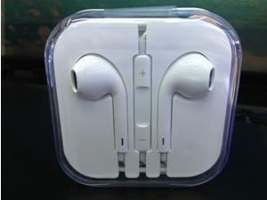 White Earphone headset headphone remote Mic for Apple iPhone5 earbud good quality new stock