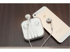 White earphone earbud earpiece 3.5mm jack remote for iPhone5 iPhone4 tablet PC iPad1/2/3 high cost performance