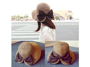 Fashion Hats for Women Fedora Trilby Gangster Cap Summer Beach Sun Straw  Hat with  Band Sunhat