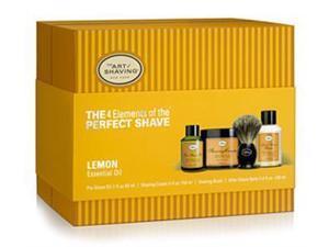 The Art Of Shaving Full Size Kit Lemon With Pure Badger Black Brush