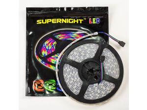 SUPERNIGHT 5M 16.4ft SMD5050 RGB Red/Green/Blue Double Row 600 LED Tube Waterproof Strip Light Flexible Lamp 120led/m