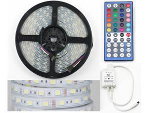 SUPERNIGHT 44 Key Music IR Controller+Waterproof Silicone Tube 5M 300 LED 5050 Strip RGBW RGB+Cool White