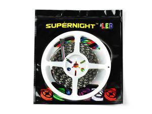 SuperNight® Non-Waterproof RGBWW RGB+Warm White SMD 5050 5M 300 LED Strip 60leds/M Flexible Light Lamp 5 Pin DC24V -Black PCB / White Roll