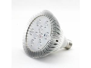 SUPERNIGHT Aluminum Plant Grow Hydroponic Red Blue Lighting Power Saving Indoor LED Par Light Bulb Lamp PAR38 9W E27 Socket Spotlight 9 leds (6 red + 3 blue)