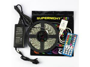 SuperNight® 5M 5050 SMD RGB and Cool White Mixed Color Changing Flexible LED Strip Light 300 LEDs Waterproof Festival Decorative LED Light + 40-key Remote Controller +Power Supply