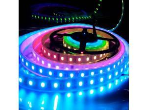 SUPERNIGHT 5M 16.4ft 5050 Dream RGB Multicolor 1812 IC Waterproof LED Strip Light 133 Color Changing