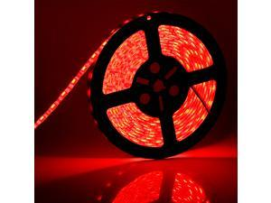SuperNight® Red Color 5050 5M 16.4 foot SMD 300 LEDs Light Strip Waterproof Bright Flexible Lamp