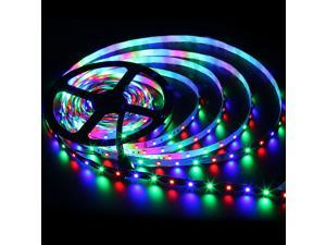 SuperNight® 16.4ft 5M 500CM 3528 SMD RGB 300 LED Light Strip Flexible Flash Color Changing Lamp Non-Waterproof 60 Led/m
