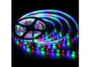 SuperNight® 16.4ft 5M 3528 SMD 300 LED RGB Strip Light Kit Non-waterproof Flexible Lamp + 44 Key IR Remote Controller