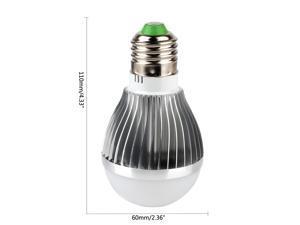 SuperNight® Silver--Aluminum Plant Grow Hydroponic Red Blue Lighting Power Saving Indoor LED Par Light Bulb 5W E27 Socket Spotlight 5 leds (3 red + 2 blue)