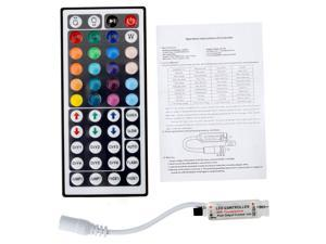 SUPERNIGHT 44 key Wireless Dimmer 12V IR Controller for RGB 5050 3528 Light LED Strip Lamp