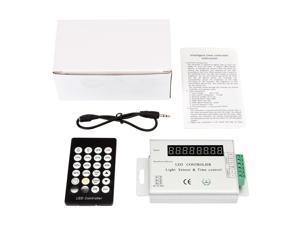 SUPERNIGHT 24Key Light Sensor Time Remote Controller Dimmer for 3528 5050 RGB Led Strip Light Lamp