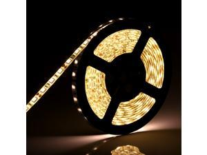 SuperNight® Waterproof SMD 5050 5M 300 LED Strip 60leds/M Flexible Light Lamp With DC Port Connection DC12V Warm White