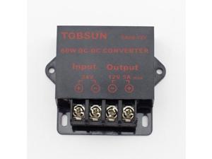 SUPERNIGHT DC 24V to DC 12V 5A 60W Converter Step Down Regulator Module Transformer Power Supply