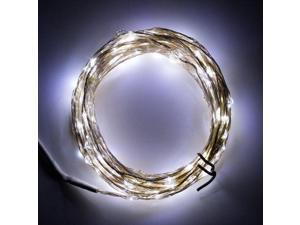 SUPERNIGHT 33ft LED Light String 207LEDs on Silver String Wire DC 12V 10M Waterproof Lamp for Festival Holiday Indoor Outdoor Cool White
