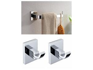 Bathroom Accessory Sets(Inlcude 2pcs Robe Hooks, 1pc Towel Rings)