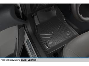 MAXFLOORMAT All Weather Floor Mats Liner for Buick Verano Front Set Black