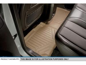 MAXFLOORMAT All Weather Floor Mats Liner F-150 SUPER CAB W/Flow Console (Tan)