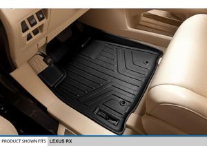 MAXFLOORMAT All Weather Custom Fit Floor Mats Liner Full Set for RX (Black)