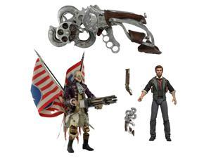 "NECA Bioshock Infinite Bundle:  Life Size Sky-Hook Prop Replica, 7"" Booker DeWitt Action Figure, and 9"" Benjamin Franklin Motorized Patriot Action Figure"